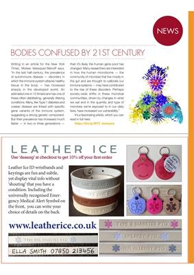 Leatherice diabetes ID jewellery