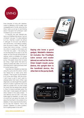 Diabetes equipment, diabetes kit,  Abbott FreeStyle Libre, diabetic, Accu-Chek Insight insulin pump