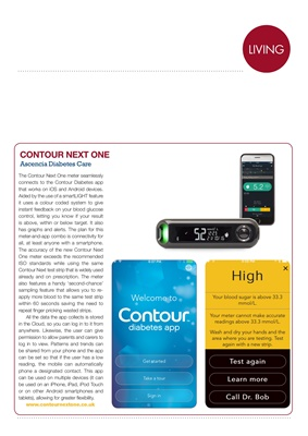 diabetes apps, Conrour Next One blood test meter and app
