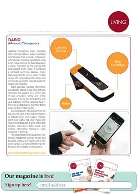 Diabetes apps, blood test meter, Dario UK