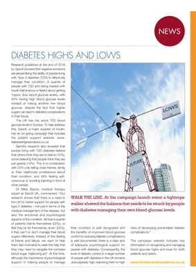 Sanofi diabetes care, diabetes highs and lows