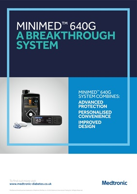 Medtronic diabetes insulin pump, Medtronic Minimed 640G, and Medtronic Enlite CGM,