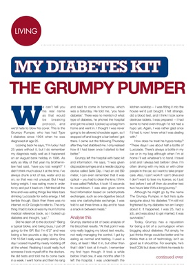 my diabetes kit, the grumpy pumper