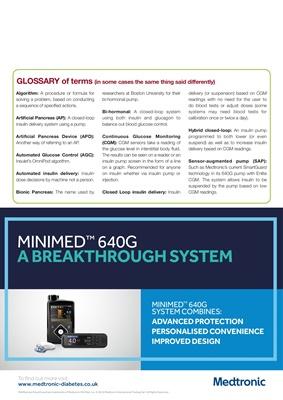 Medtronic diabetes insulin pump, Medtronic Minimed 640G, and