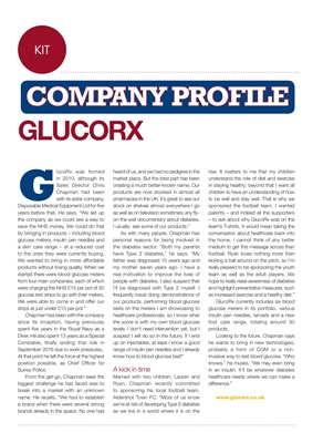 Chris Chapman GlucoRx, type 2 diabetes, blood test meters