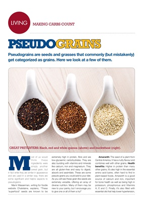 Making Carbs Count pseudograins