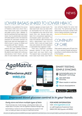 Desang diabetes magazine diabetes news, Agamatrix Wavesense Jazz wireless blood test meter