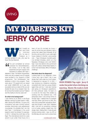 My Diabetes Kit Jerry Gore mountaineer