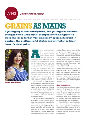 Making Carbs Count Grains as Mains cookbook