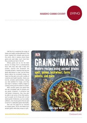 Making Carbs Count Grains as Mains cookbook, Laura Agar Wilson, Dorling Kindersley