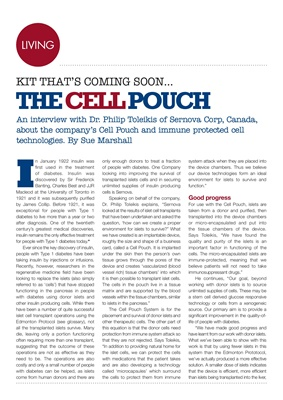 Dr Philip Toleikis, Sernova, Cell Pouch technology, islet cell transplants, glucose responsive techn