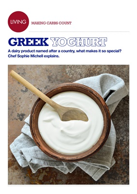 Making Carbs Count, greek yoghurt