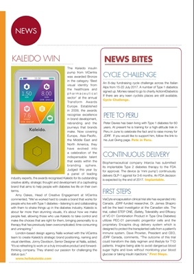 Desang diabetes magazine diabetes news, Kaleido insulin pump