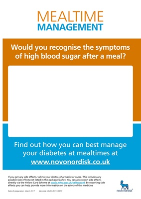Novo Nordisk Mealtime Management of blood glucose