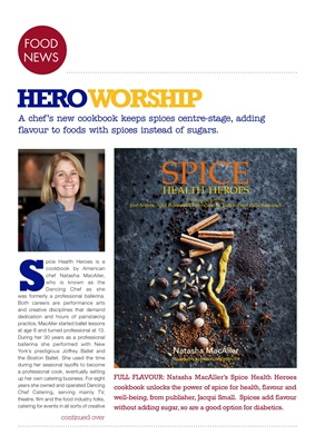 Chef Natasha MacAller, Spice Health Heroes, publisher Jacqui Small, food for diabetes