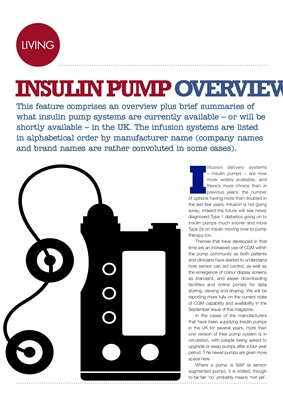 Insulin pump overview