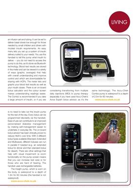 Insulin pump overview, Accu-Chek Combo, Accu-Chek Insight