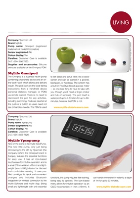 insulin pump, Omnipod, Ypsopump