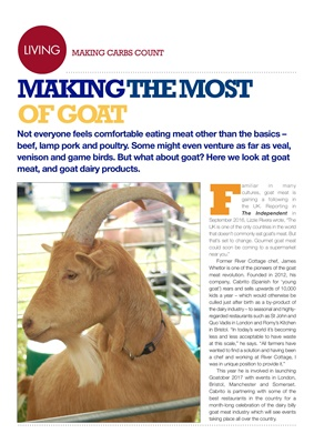 Making Carbs Count goat meat