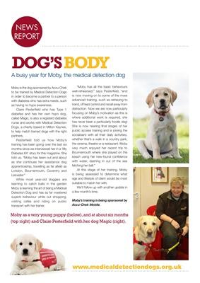 Desang diabetes magazine diabetes news, Medical Detection Dogs