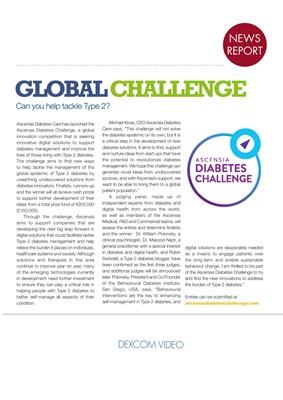 Desang diabetes magazine diabetes news, Ascensia Diabetes Challenge