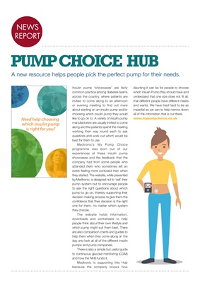 Medtronic's My Pump Choice hub