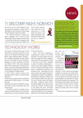 Desang diabetes magazine diabetes news, Type 1 diabetes, Type 2 diabetes