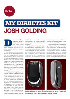 My Diabetes Kit Josh Golding, Accu-Chek Nano blood test meter, Type 1 diabetes