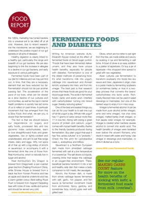 Fermented food and diabetes