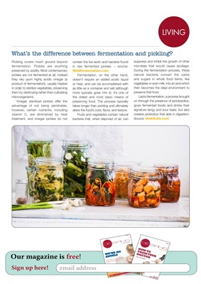 The difference between fermentation and pickling food
