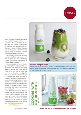 Making Carbs Count Kefir, gut health, Bio-tiful Dairy