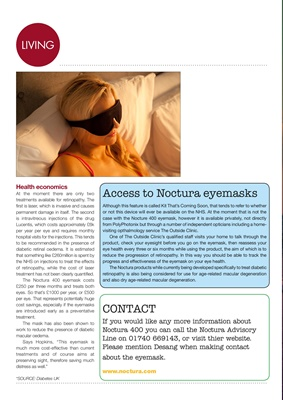 Noctura 400 eyemask, Polyphotonix, diabetic retinopathy
