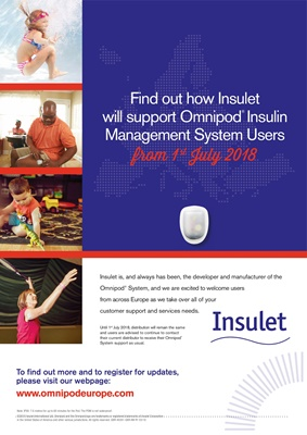 Omnipod Insulet insulin pump with insulin pods