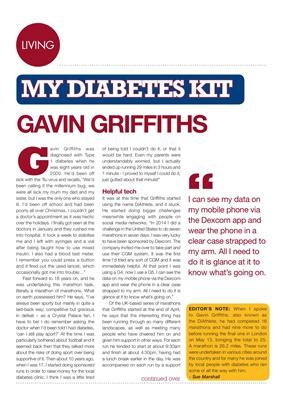 My diabetes kit  Gavin Griffiths, the DiAthlete