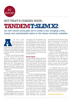 Insulin pump, Tadem Diabetes Care, Tandem t:slim insulin pump