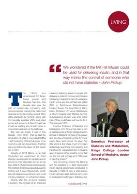 Professor John Pickup diabetes insulin pump research