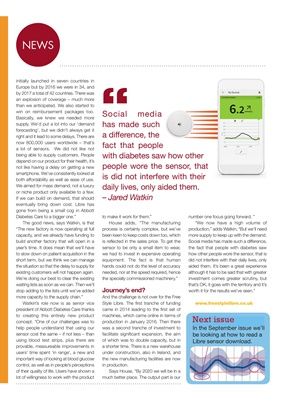 Freestyle Libre blood glucose sensor