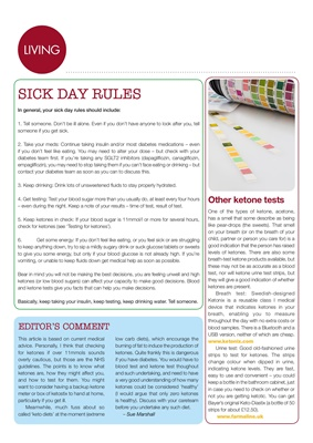 diabetes and ketones, diabetic sick day rules, DKA