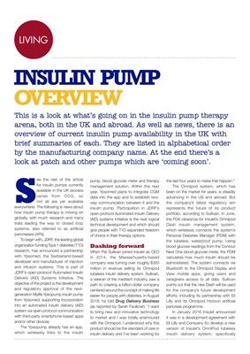 Insulin pumps UK 2018