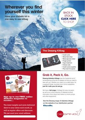 Desang diabetes kitbags, free online diabetes magazine, diabetic kit