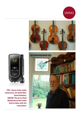 David Andrews violin man, Type 2 diabetes