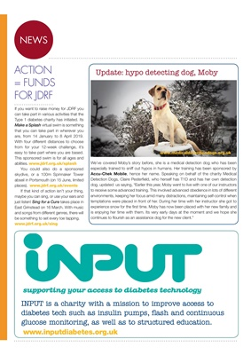 JDRF, medical detection dogs, Input diabetes charity