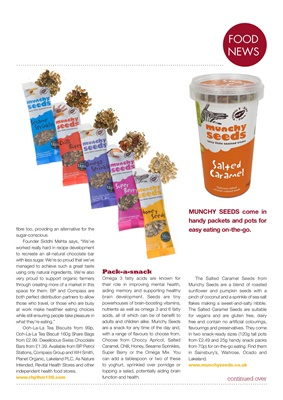 Diabetes food news, desang diabetes magazine, munchy seeds