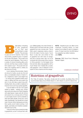 Diabetes food news, Making Carbs Count, nutrion of grapefruit