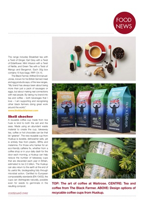Diabetes food news, tea and coffee, the black farmer, Waitrose, Huskup