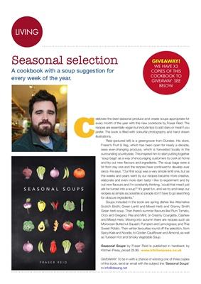 Diabetes food news, Seasonal Soups by Frazer Reid, Kitchen Press
