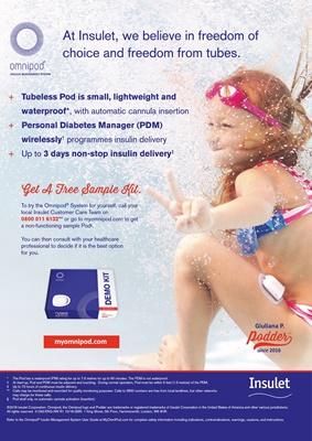 Omnipod Insulet insulin pump with insulin pods, podders