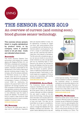 The CGM sensor scene 2019
