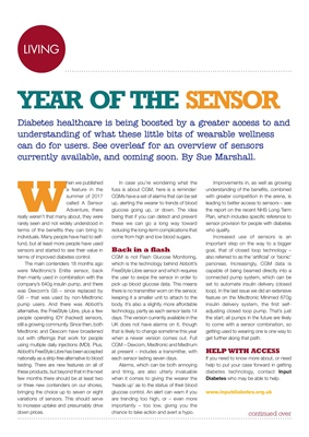 Desang magazine overview of CGM sensor technologies