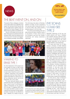 Diabetes UK, JDRF UK, Desang Magazine, Jonny Labey